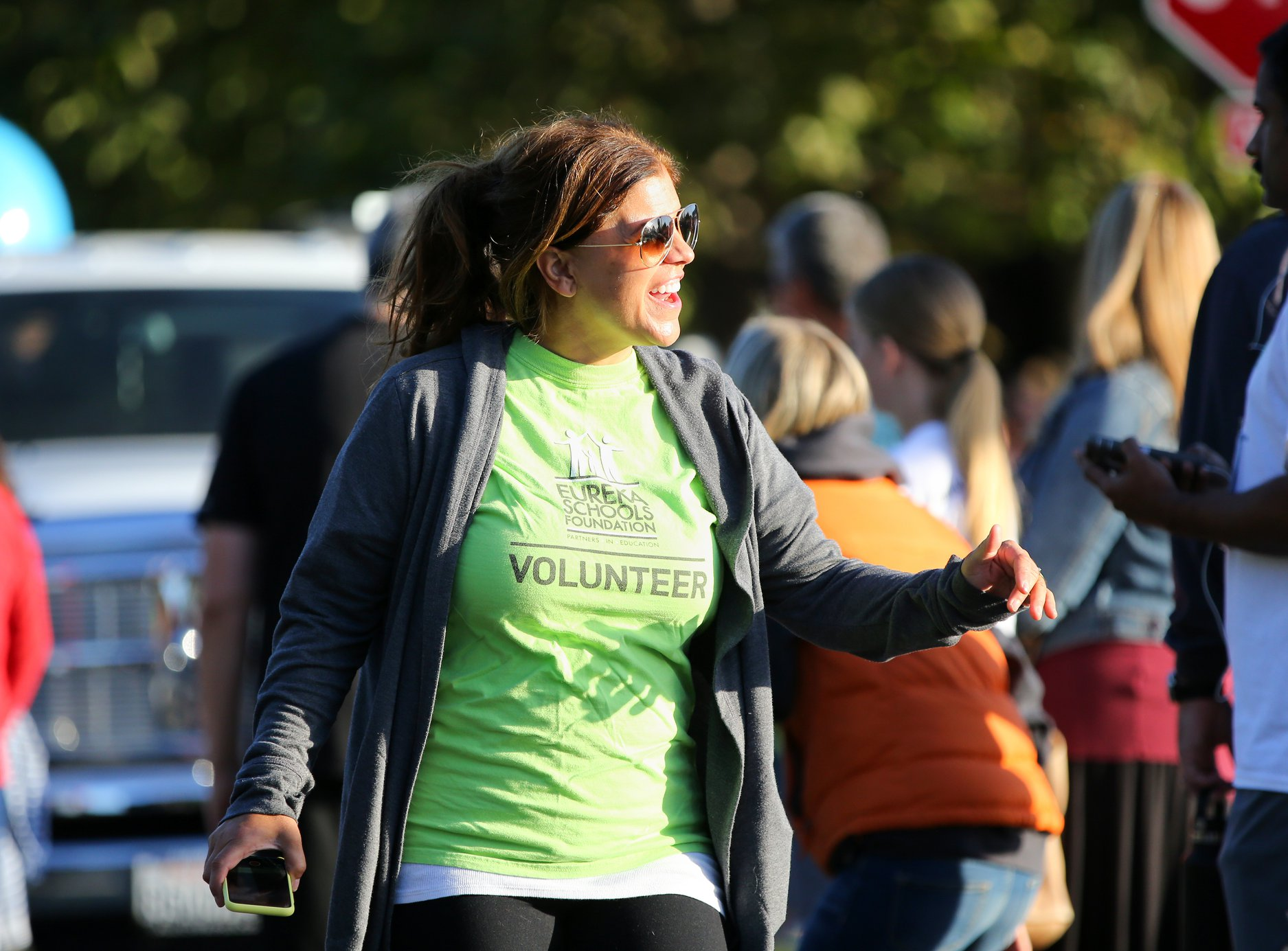 volunteer at Fund Run