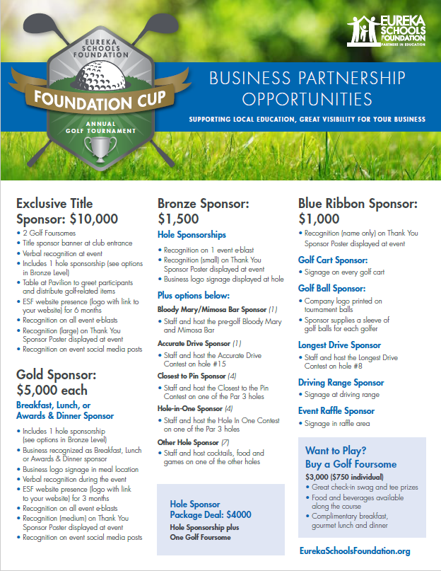 Foundation Cup sponsor info